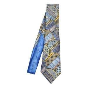Ermenegildo Zegna Tie Quindici Blue Fan Silk